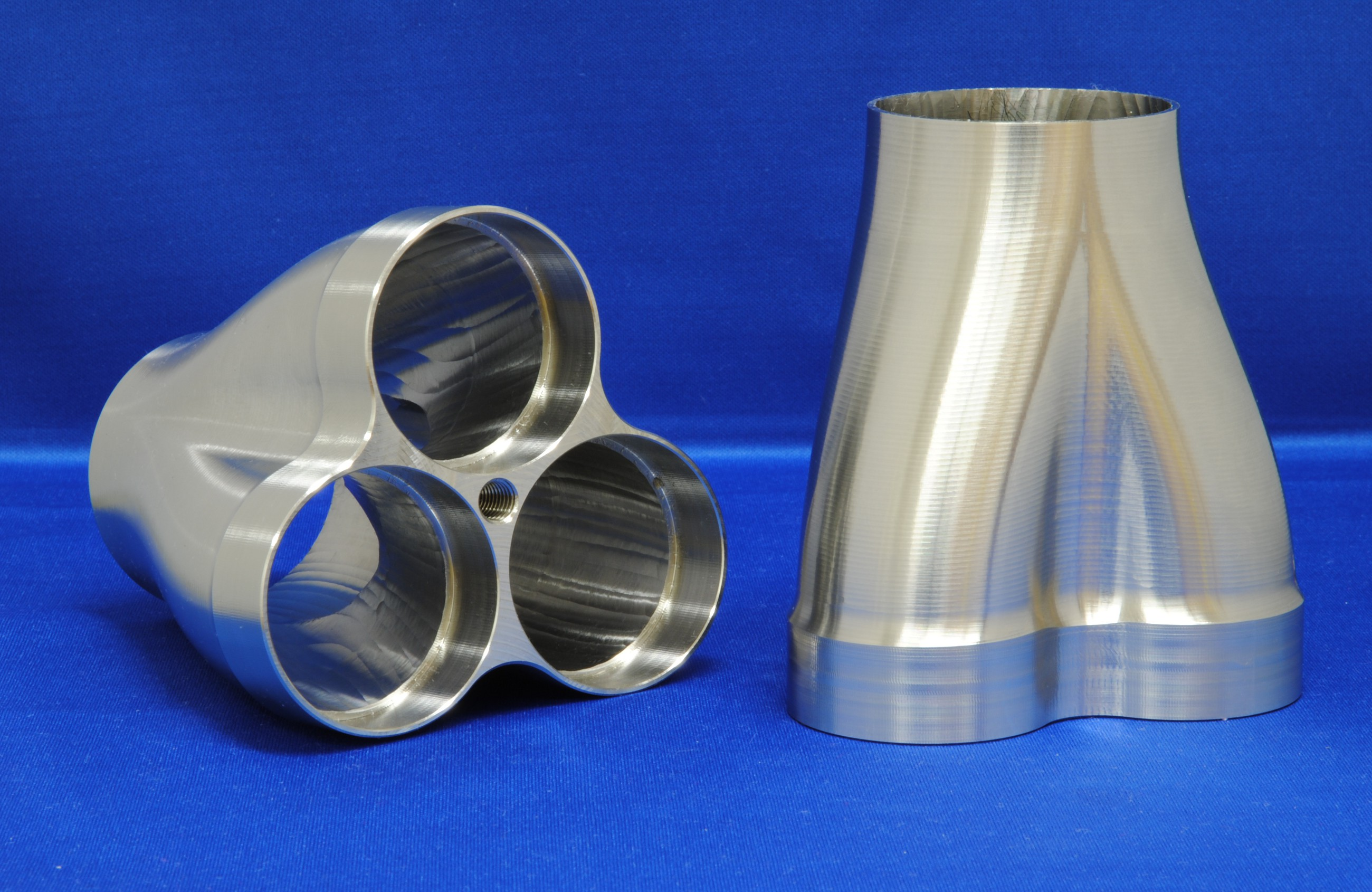 "Stainless 304 2-1 3/"" to 2.5/"" header merge collector w// 3/"" V band flange Exhaust"