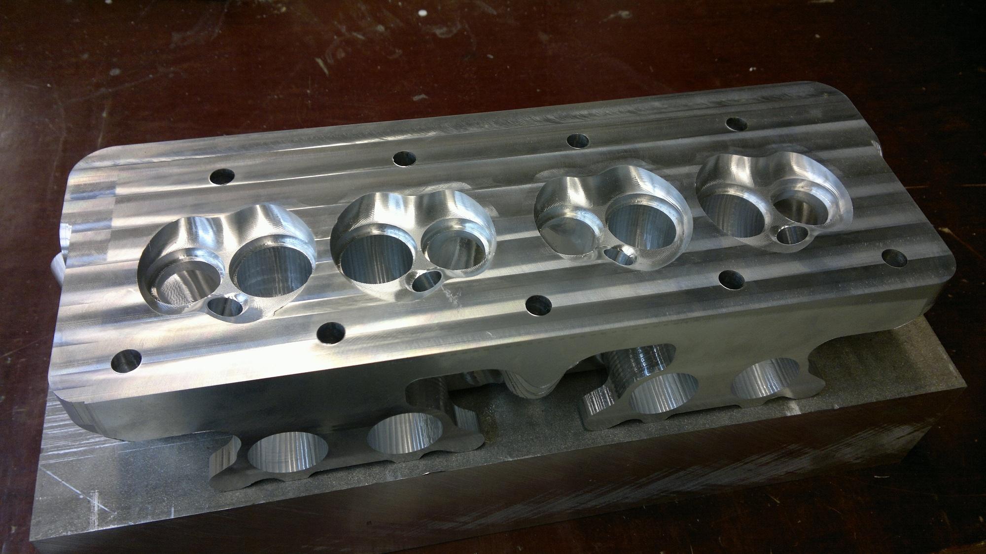 8 port CNC machined Mini head - ElmerRacing com